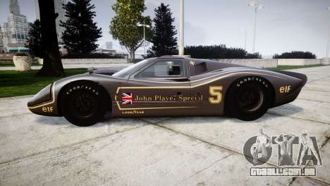 Ford GT40 Mark IV 1967 PJ JPS 5 para GTA 4 esquerda vista