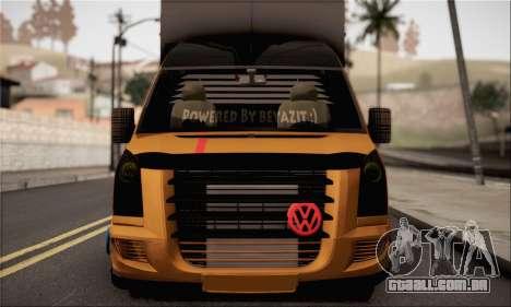 Volkswagen Crafter para GTA San Andreas traseira esquerda vista