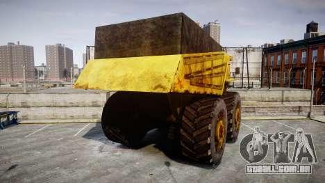 Mining Truck para GTA 4 traseira esquerda vista