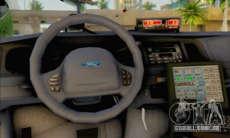 Ford Crown Victoria 1999 Walking Dead para GTA San Andreas traseira esquerda vista