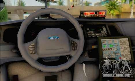 Ford Crown Victoria 1999 Walking Dead para GTA San Andreas traseira esquerda vista
