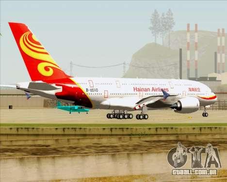 Airbus A380-800 Hainan Airlines para GTA San Andreas vista inferior
