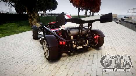 Ariel Atom V8 2010 [RIV] v1.1 S&A para GTA 4 traseira esquerda vista