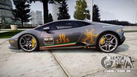 Lamborghini Huracan LP 610-4 2015 Blancpain para GTA 4 esquerda vista