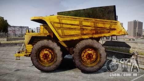Mining Truck para GTA 4 esquerda vista