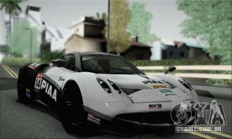 Pagani Huayra TT Ultimate Edition para vista lateral GTA San Andreas