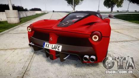 Ferrari LaFerrari 2014 [EPM] para GTA 4 traseira esquerda vista