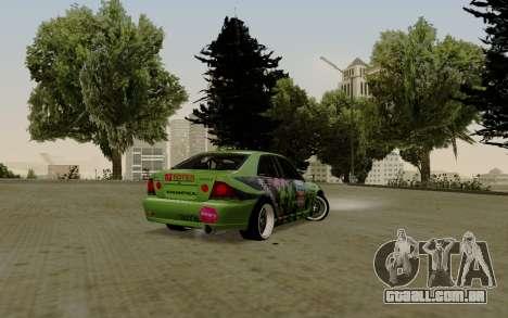 Toyota Altezza Toy Sport para GTA San Andreas traseira esquerda vista