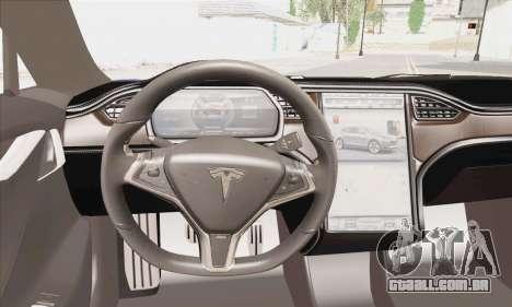 Tesla Model S 2014 para GTA San Andreas traseira esquerda vista
