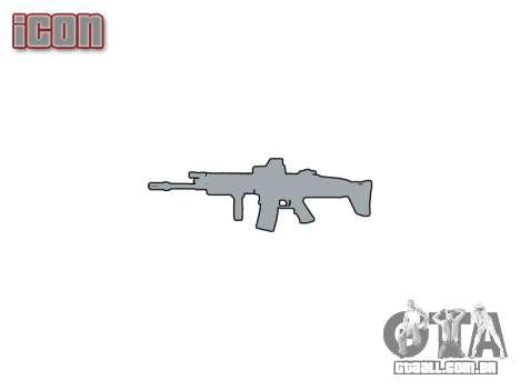 Máquina FN SCAR-L Mc 16 de destino icon1 para GTA 4 por diante tela