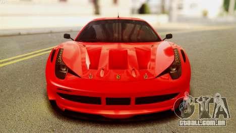 Ferrari 62 F458 2011 para GTA San Andreas vista direita