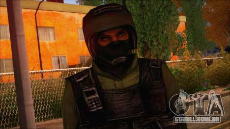 Urban from Counter Strike Condition Zero para GTA San Andreas terceira tela