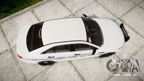 Ford Taurus 2014 [ELS] Liberty County Sheriff para GTA 4 vista direita