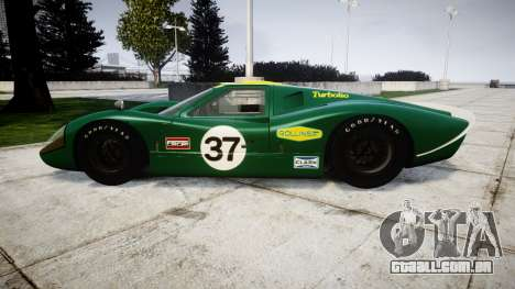Ford GT40 Mark IV 1967 PJ 37 para GTA 4 esquerda vista