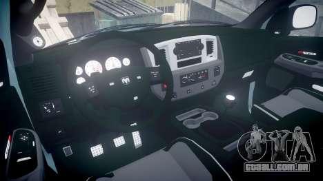 Dodge Ram para GTA 4 vista de volta