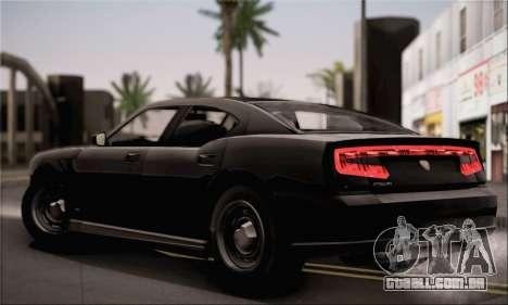 Bravado Buffalo S FIB para GTA San Andreas traseira esquerda vista