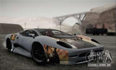 Jaguar XJ220S Ultimate Edition para GTA San Andreas vista traseira