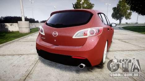Mazda 3 MPS para GTA 4 traseira esquerda vista