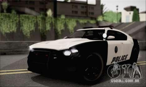 Bravado Buffalo S Police Edition (HQLM) para GTA San Andreas vista direita