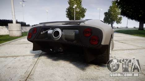 Pegassi Infernus Carbonerra para GTA 4 traseira esquerda vista