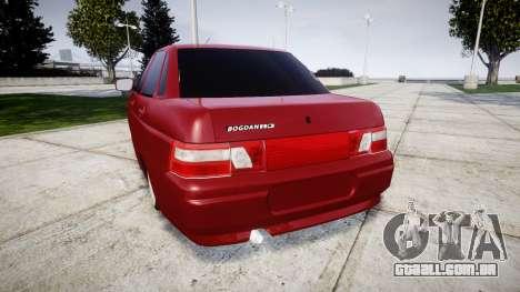 ВАЗ-2110 Bogdan rims2 para GTA 4 traseira esquerda vista
