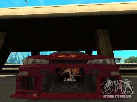 Nissan 200SX FnF1 (Letty car) para GTA San Andreas esquerda vista