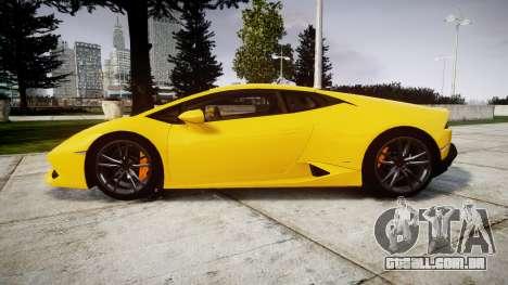 Lamborghini Huracan LP610-4 para GTA 4 esquerda vista