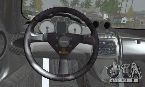 Pagani Huayra TT Ultimate Edition para GTA San Andreas traseira esquerda vista