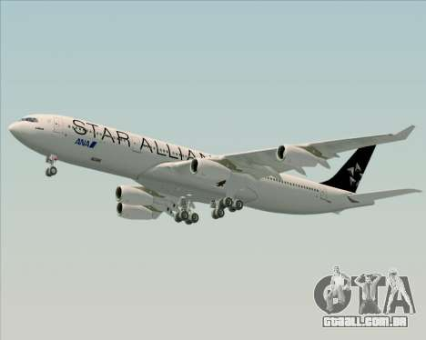 Airbus A340-300 All Nippon Airways (ANA) para GTA San Andreas vista interior