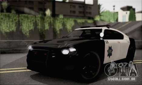Bravado Buffalo S Police Edition (HQLM) para GTA San Andreas traseira esquerda vista