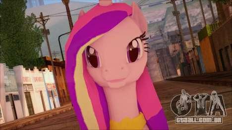 Cadence from My Little Pony para GTA San Andreas terceira tela