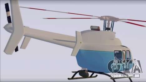 Bell 407 para GTA San Andreas esquerda vista
