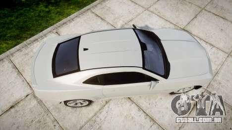 Chevrolet Camaro SS [ELS] Unmarked no side ligh para GTA 4 vista direita