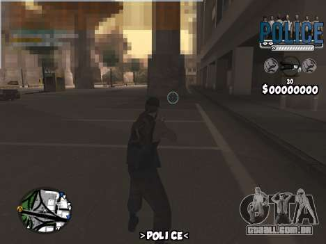 C-Hud Police para GTA San Andreas terceira tela