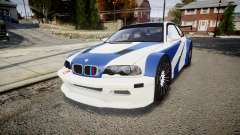BMW M3 E46 GTR Most Wanted plate NFS ND 4 SPD para GTA 4