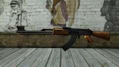 Retextured AK47 para GTA San Andreas