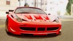 Ferrari 62 F458 2011 para GTA San Andreas