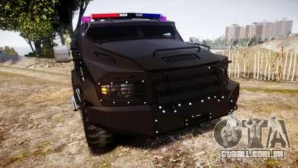 SWAT Van Metro Police para GTA 4