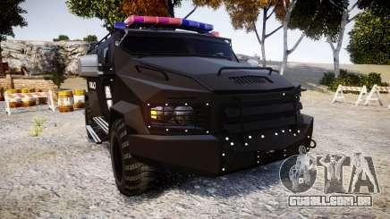 SWAT Van Metro Police [ELS] para GTA 4
