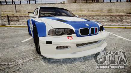 BMW M3 E46 GTR Most Wanted plate NFS MW para GTA 4