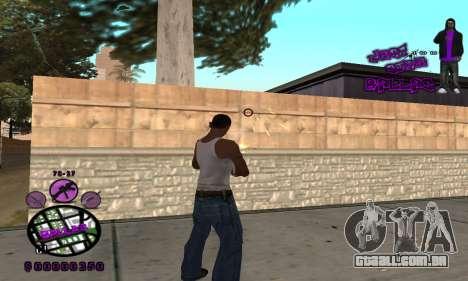 C-HUD Ballas para GTA San Andreas segunda tela