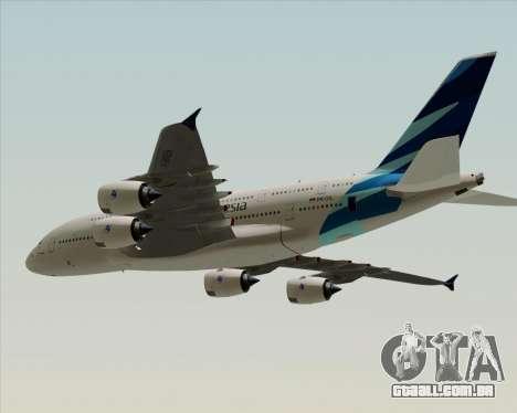 Airbus A380-800 Garuda Indonesia para GTA San Andreas traseira esquerda vista