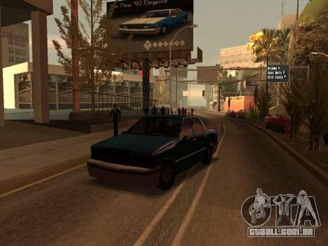 Beta Elegant para GTA San Andreas esquerda vista
