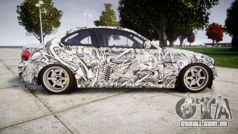 BMW 1M 2011 Sharpie para GTA 4 esquerda vista