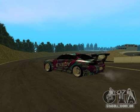 Nissan Silvia S15 EXEDY para GTA San Andreas traseira esquerda vista