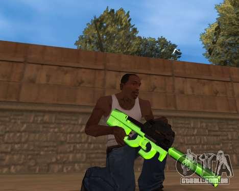 Chrome Green Weapon Pack para GTA San Andreas terceira tela