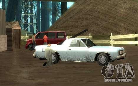 Estrada da garagem do Sigea para GTA San Andreas quinto tela