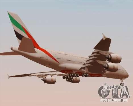 Airbus A380-800 Emirates 40 Anniversary Sticker para GTA San Andreas vista superior