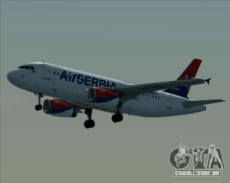 Airbus A319-100 Air Serbia para GTA San Andreas vista interior