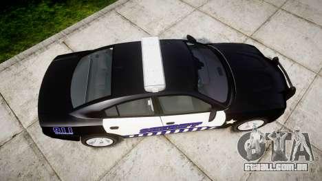 Dodge Charger RT 2014 Sheriff [ELS] para GTA 4 vista direita